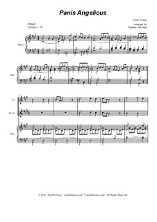 Panis angelicus: For flute and Bb-clarinet - piano accompaniment by César Franck