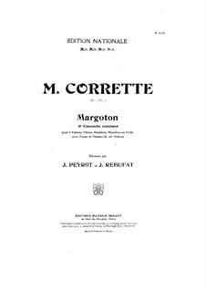 Konzert für drei Violinen, Cello und Klavier No.3 'Margoton': Violinstimme III by Michel Corrette