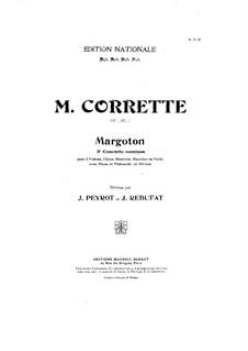 Konzert für drei Violinen, Cello und Klavier No.3 'Margoton': Cellostimme by Michel Corrette