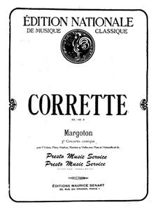 Konzert für drei Violinen, Cello und Klavier No.3 'Margoton': Vollpartitur by Michel Corrette