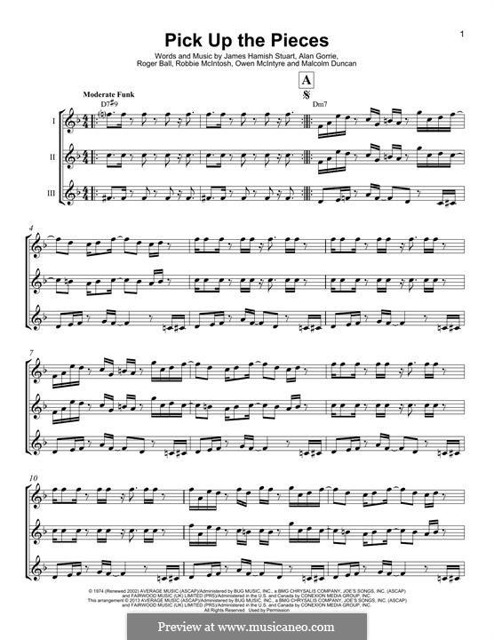Pick Up the Pieces (Average White Band): Für Ukulele by Hamish Stuart, Robert McIntosh, Roger Ball, Alan Gorrie, Malcolm Duncan, Owen McIntyre