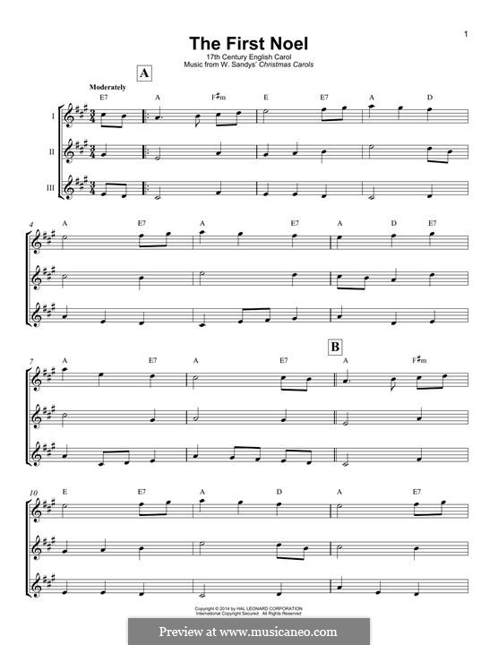 The First Nowell (The First Noël), Printable scores: Für Ukulele by folklore