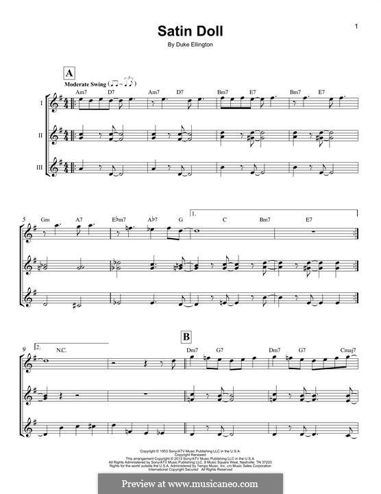 Satin Doll: Für Ukulele by Billy Strayhorn, Duke Ellington