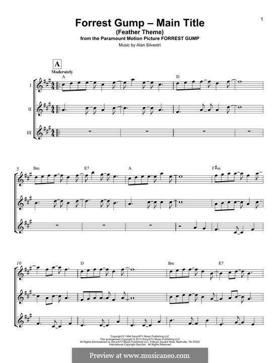 Forrest Gump Suite (Theme): Für Ukulele by Alan Silvestri