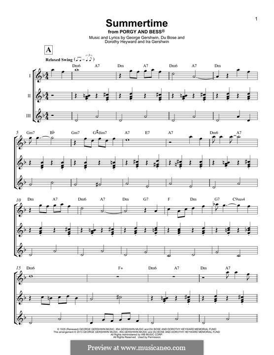 Summertime: Für Ukulele by George Gershwin