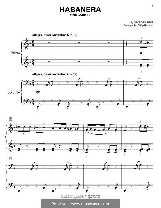 Habanera: Für Klavier by Georges Bizet