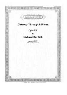 Gateway Through Stillness, Op.151: Gateway Through Stillness by Richard Burdick