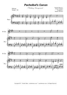 Kanon in D-Dur: For Bb-trumpet solo with piano accompaniment by Johann Pachelbel