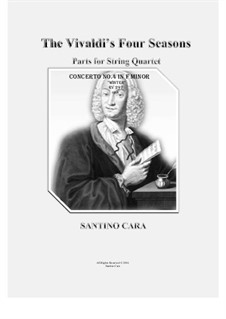 Violinkonzert Nr.4 in f-Moll 'Winter', RV 297: Arrangement for string quartet by Antonio Vivaldi
