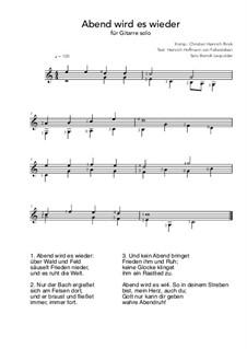 Abendlied: Für Gitarre by Christian Heinrich Rinck
