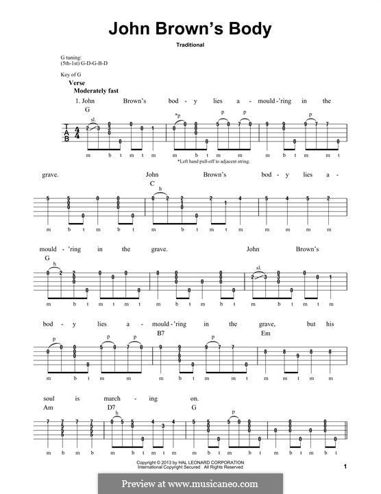 John Brown's Body: For banjo by folklore