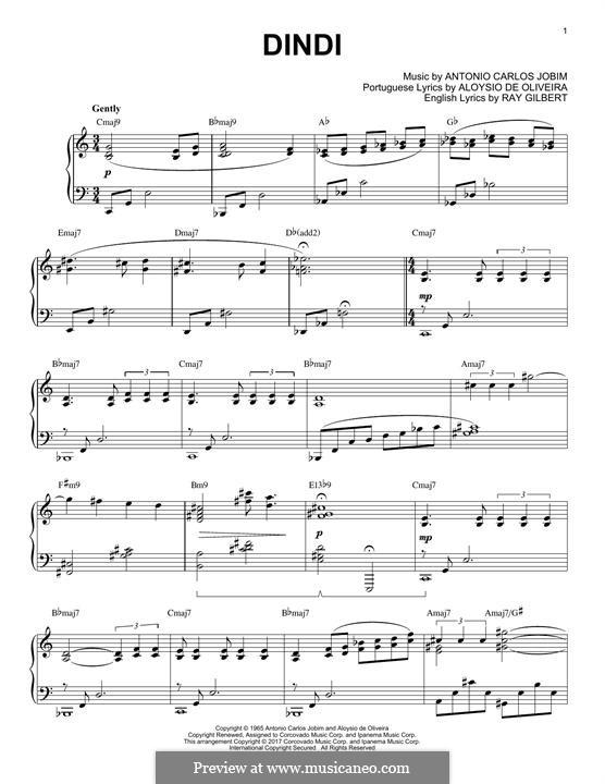 Dindi: Für Klavier by Antonio Carlos Jobim