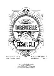 Tarantella, Op.12: Für Klavier, vierhändig by César Cui