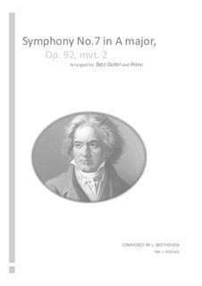 Teil II: Version for bass guitar and piano by Ludwig van Beethoven
