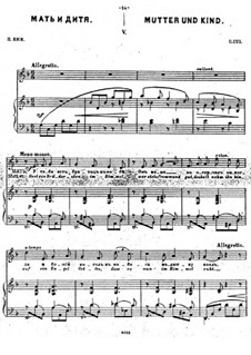 Dreizehn musikalische Bilder, Op.15: Nr.5 Mutter und Kind by César Cui