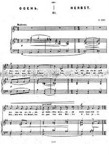 Dreizehn musikalische Bilder, Op.15: Nr.11 Herbst by César Cui