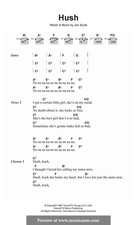 Hush (Kula Shaker): Melodische Linie by Joe South