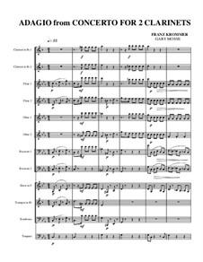 Konzert für zwei Klarinetten und Orchester in Es-Dur, Op.35: Adagio by Franz Krommer