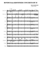 Konzert für zwei Klarinetten und Orchester in Es-Dur, Op.35: Rondo by Franz Krommer