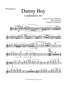 Danny Boy (Londonderry Air): For clarinet quintet - B flat clarinet I part by folklore