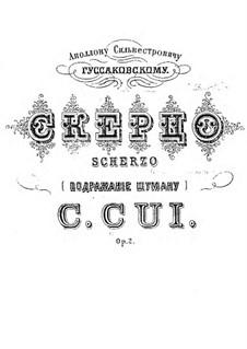 Scherzo No.2 'à la Schumann', Op.2: Für Orchester by César Cui