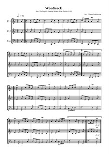 Woodicock: For two flutes and bassoon by John Playford