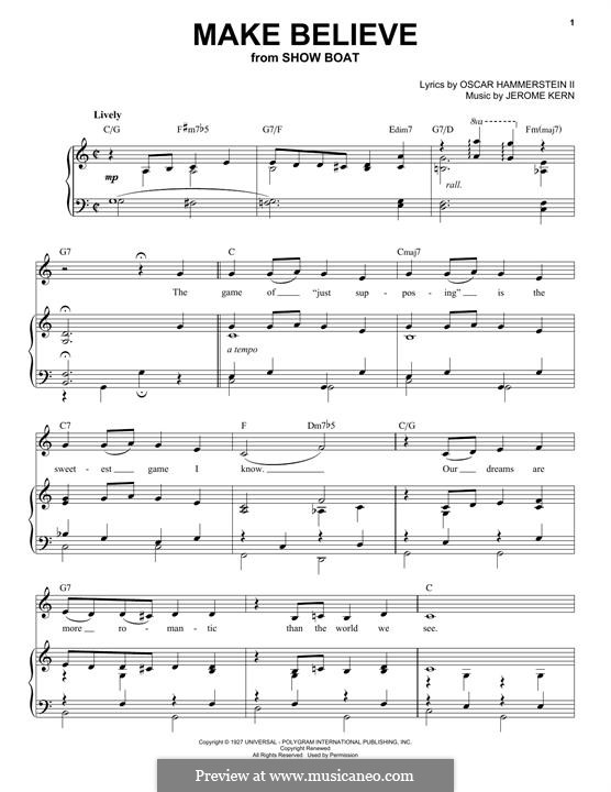 Make Believe: Für Stimme und Klavier by Jerome Kern