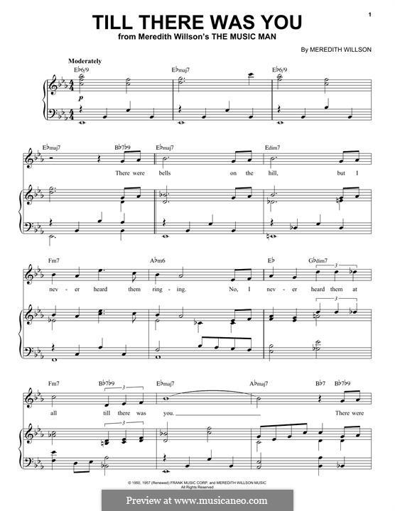 Till There Was You: Für Stimme und Klavier by Meredith Willson