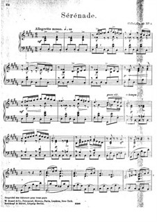 À Argenteau, Op.40: No.5 Sérénade by César Cui