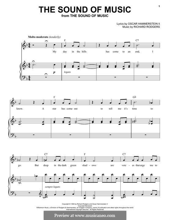 The Sound of Music: Für Stimme und Klavier by Richard Rodgers