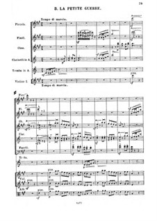 Suite Nr.4, Op.40: Movement III. La petite guerre by César Cui