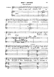 Die Italienerin in Algier: Pensa a la patria. Recitative and Rondo for Mezzo by Gioacchino Rossini