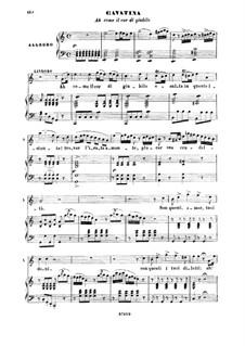 Die Italienerin in Algier: Ah come il cor di giubilo. Cavatina for Tenor by Gioacchino Rossini