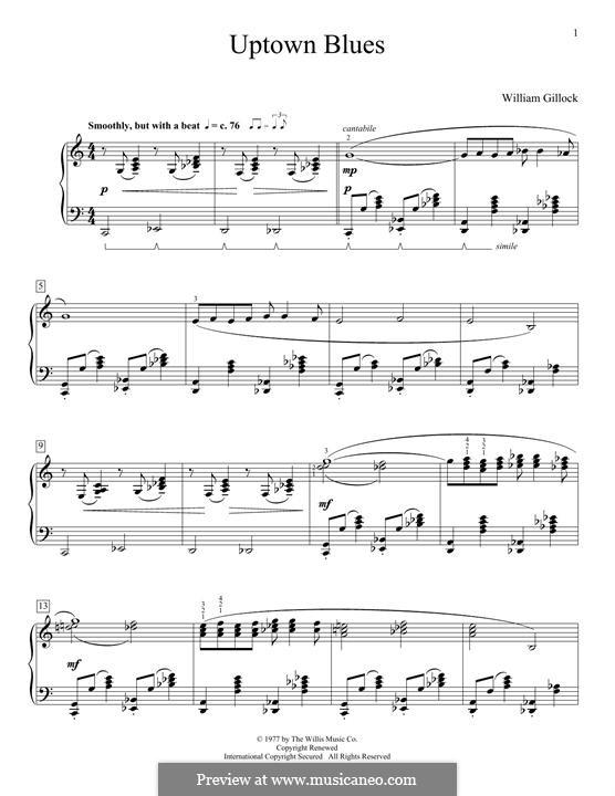 Uptown Blues: Für Klavier by William Gillock