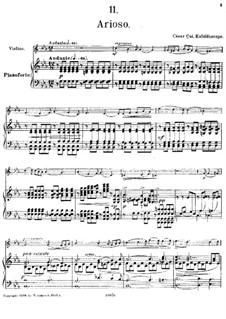 Nr.11 Arioso: Partitur by César Cui