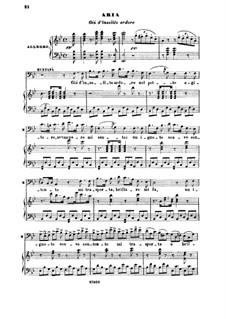 Die Italienerin in Algier: Gia d'insolito ardore. Recitative and Aria for Baritone by Gioacchino Rossini