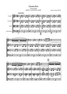 Waltz 'Grammophone': Für Streichquartett by Eugen Doga