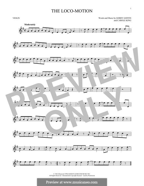 The Loco-Motion: Für Violine by Carole King, Gerry Goffin
