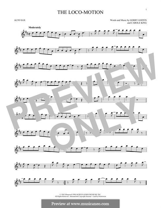 The Loco-Motion: Für Altsaxophon by Carole King, Gerry Goffin