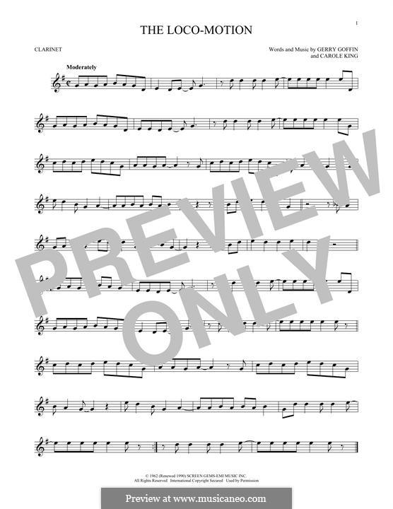 The Loco-Motion: Für Klarinette by Carole King, Gerry Goffin