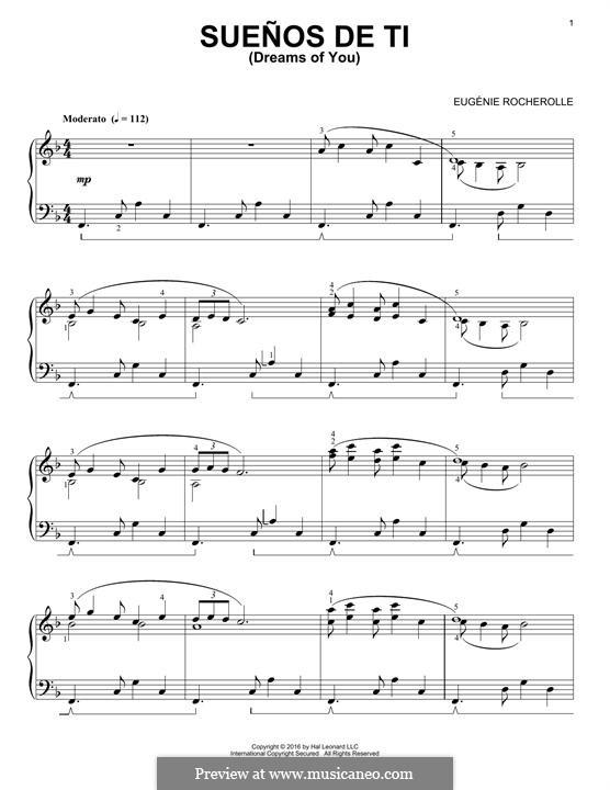 Suenos de Ti: Für Klavier by Eugénie Rocherolle