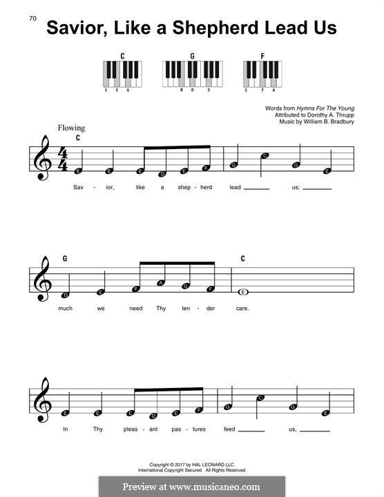 Savior, Like a Shepherd Lead Us: For any instrument by William Batchelder Bradbury