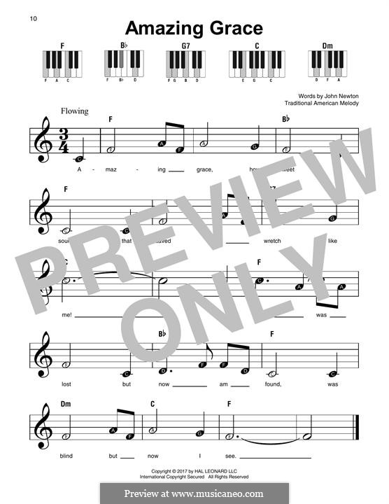 Amazing Grace (Printable Scores): For any instrument by folklore