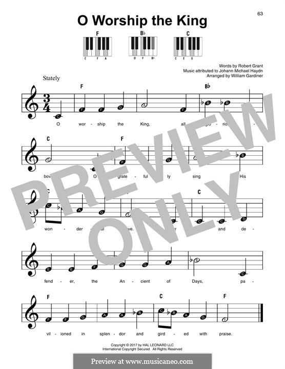 O Worship The King: For any instrument by Michael Haydn