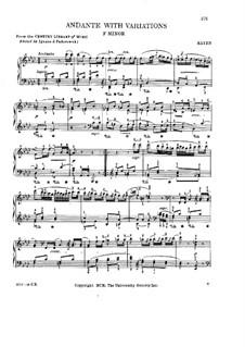 Andante mit Variationen in f-Moll, Hob.XVII/6: Andante mit Variationen in f-Moll by Joseph Haydn