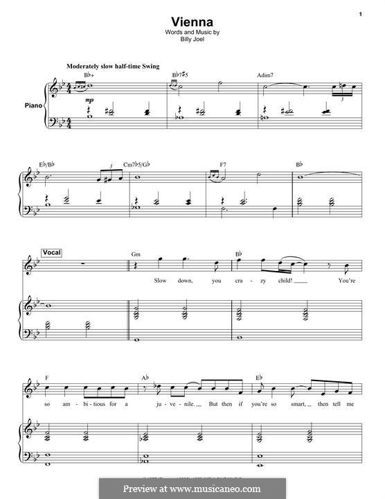 Vienna: Für Keyboard by Billy Joel