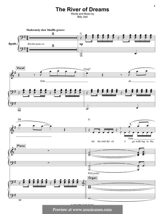 The River of Dreams: Für Stimme und Klavier by Billy Joel