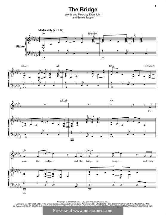 The Bridge: Für Stimme und Klavier by Elton John