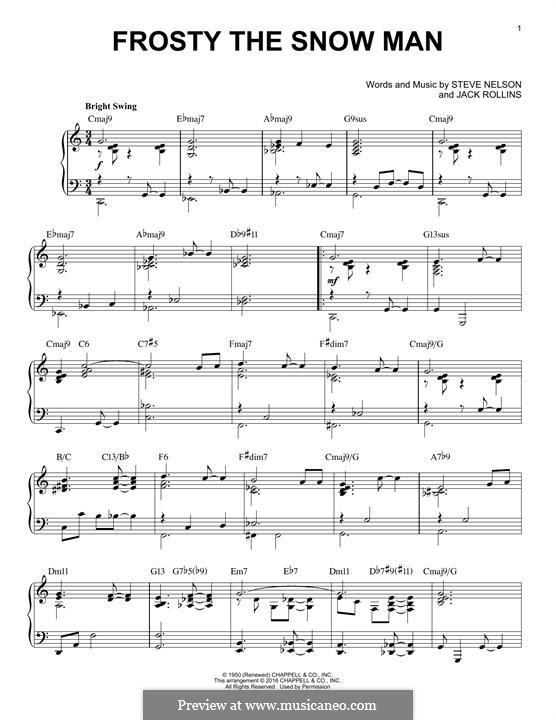 Frosty the Snow Man: Für Klavier by Jack Rollins, Steve Nelson