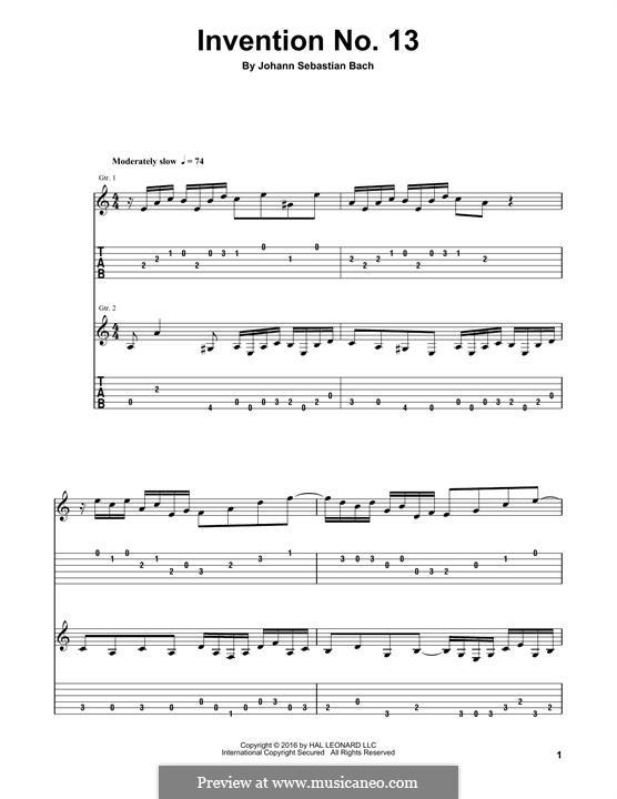 Nr.13 in a-moll, BWV 784: Für Gitarre by Johann Sebastian Bach